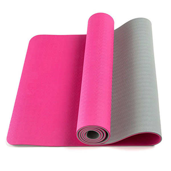 6MM雙色瑜珈墊 (附背繩) 1700016 運動 健身 瑜珈 鍛鍊 按摩 塑身 身形雕塑 有氧 地墊 軟墊 防滑