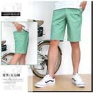 【大盤大】(A259) 男短褲 夏 青綠 M-3XL 五分褲 口袋 素面休閒褲 單色褲子 工作褲 運動 有大尺碼