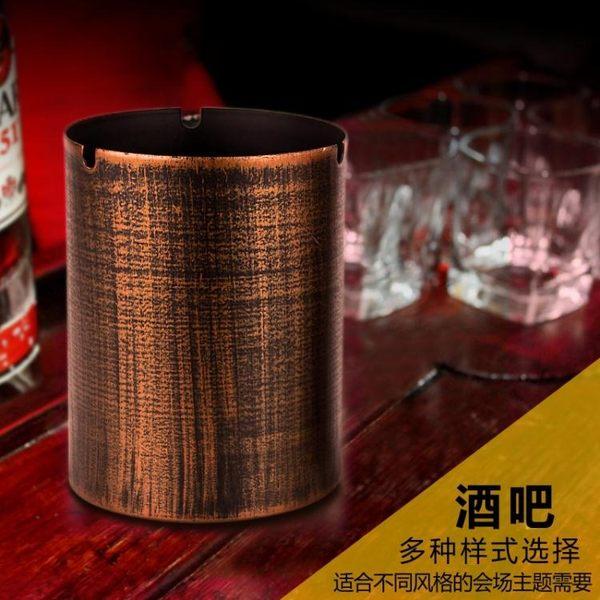 簡約鐵藝防風個性餐廳網咖創意垃圾桶煙灰缸菸灰缸PLL4110【男人與流行】