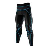 Mizuno BIOGEAR [A60BP-30092] 男款 機能 壓縮 壓力 緊身 全長 長褲 運動 慢跑 黑藍
