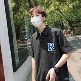 (快出)polo衫男小清新原宿風ulzzang學生體恤韓版潮流bf寬鬆夏季短袖t恤