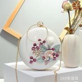晚宴手拿包女2018夏季新款韓版手提包鏈條迷你小包包 LH2112【123休閒館】