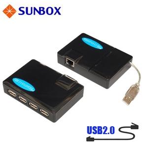 SUNBOX USB2.0 60米 UTP 訊號延長器 (UE204C)
