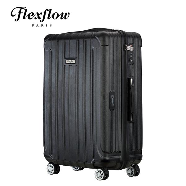 Flexflow 髮絲黑 29吋 智能測重防爆拉鍊旅行箱 里昂系列 29吋行李箱 【官方直營】
