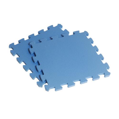 【新生活家】EVA素面巧拼地墊-藍色32x32x1cm8入