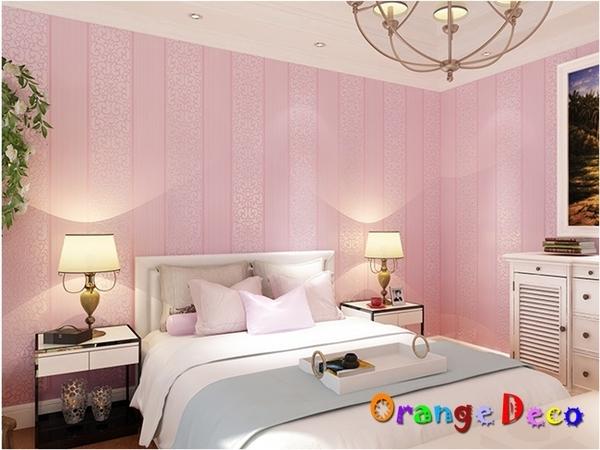壁貼【橘果設計】簡約直條系列(淡粉)10米長DIY組合壁貼 牆貼 壁貼 室內設計 裝潢