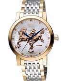 Ogival 愛其華 駿馬豪氣限量真鑽腕錶-珍珠貝x雙色版 388.81AGSR
