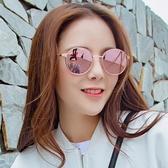 新款墨鏡女款韓版潮復古原宿風小臉街拍圓框太陽眼鏡Mandyc