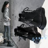 短靴 馬丁靴女鞋秋季2019年 新款秋鞋秋冬季加絨百搭英倫風短靴冬鞋