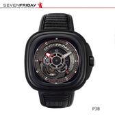 SEVENFRIDAY P3-B 跨界設技師自動上鍊機械錶-黑/47mm P3-B