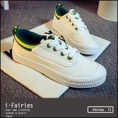 平底鞋跑步運動鞋小白鞋★ifairies【56546】