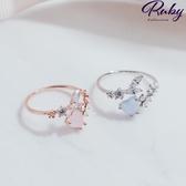 戒指 RCha。韓‧蛋白石愛心水鑽戒指-Ruby s 露比午茶