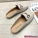 穆勒鞋 包頭半拖鞋女新款穆勒鞋子女外穿平底時尚方頭平底鞋-Ballet朵朵