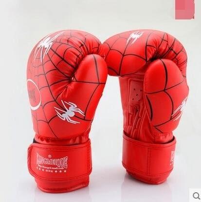 食尚玩家 雀兒童拳擊手套小孩幼兒拳套少年拳擊泰拳格鬥訓練散打手套蜘蛛王拳套