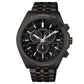 【台南 時代鐘錶 CITIZEN】星辰 光動能 卓越質感萬年曆光動能腕錶 BL5567-57E 黑 44mm