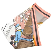 LOUIS VUITTON LV 路易威登 藍粉色門童絲質方巾 Scarf 【BRAND OFF】