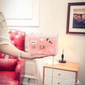 糖果色可愛果凍包硅膠透明包錬條包單肩斜背小包包潮夏韓版女士包中秋節下殺