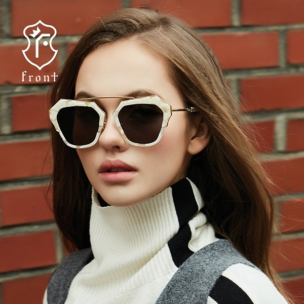 【Front 太陽眼鏡】Levels-s-三色可挑選#獨特時尚大框太陽眼鏡/墨鏡