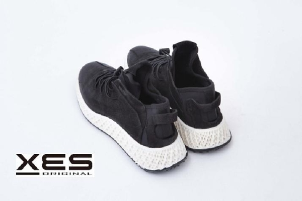 XES 便利綁帶透氣休閒鞋 男款 黑色