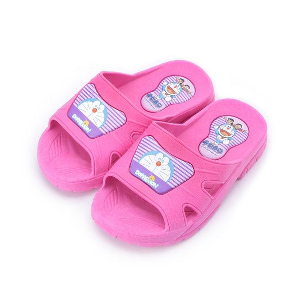 哆啦A夢 卡通防水套式拖鞋 桃紅 DMKS80732 大小童鞋 鞋全家福