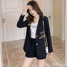 西裝外套 網紅刺繡chic小西裝外套女上衣潮修身休閒設計感小眾收腰ins西服 618購物節