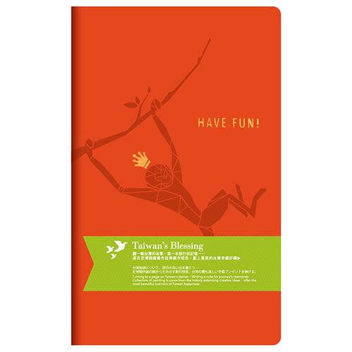 【DR.Paper】手帳/日誌/筆記本/祝福日誌 (桔色/享受愉悅的時光吧)