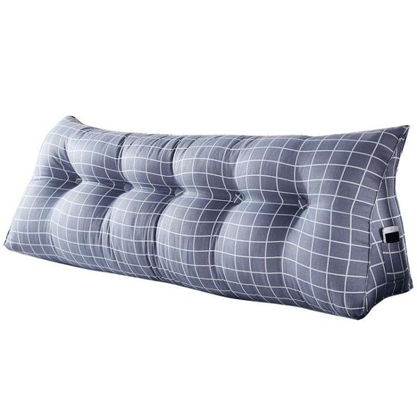 靠枕床頭靠墊長靠枕軟包三角雙人大靠背護腰靠背枕榻榻米床上大靠墊 【八折搶購】