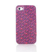 TORY BURCH 經典LOGO圖紋iPhone4/4S手機保護殼(紫紅色)151017