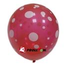 【大倫氣球】12吋-五面印刷 圓形氣球 大小點點 單顆 婚禮佈置 求婚 新婚 派對