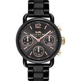 Coach 紐約時尚日曆女錶-黑/36mm 14502840