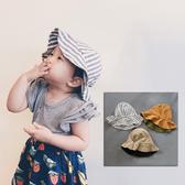棉麻漁夫帽 雙面戴 遮陽帽 盆帽 帽子 男童 女童 橘魔法 現貨 兒童 童帽 遮陽 防曬 中性款