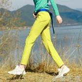 戶外新款女式彈力速幹褲徒步登山休閒運動防潑水冰感修身快干長褲 至簡元素