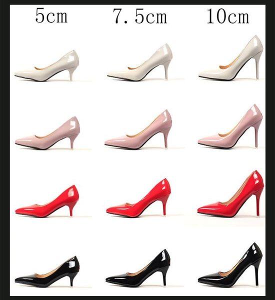 大尺碼48碼細跟高跟鞋 45 47高跟鞋女淺口細跟漆皮尖頭反串演出大碼46JA3991『美好時光』