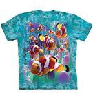 【摩達客】(預購) 美國進口The Mountain  海葵與小丑魚 純棉環保短袖T恤(10416045070a)