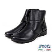 【IMAC】義大利進口輕量氣墊短筒女靴/短靴  黑色(205810-BL)