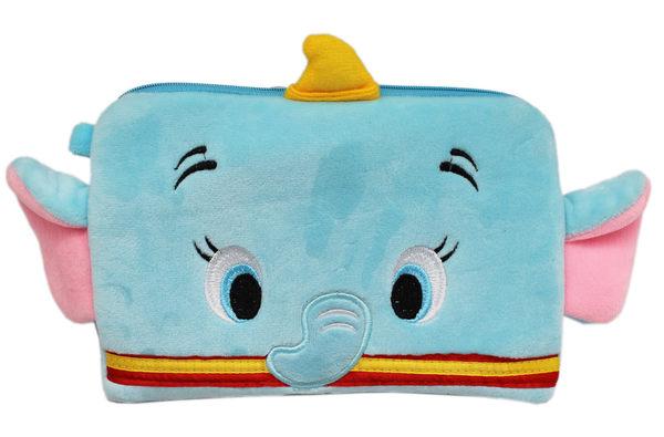 【卡漫城】 小飛象 化妝包 ㊣版 絨毛 筆袋 萬用包 收納袋 收納包 萬用袋 雙層 拉鍊袋 Dumbo 大象