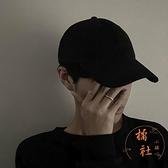 鴨舌帽時尚百搭氣質帽子軟頂純色棒球帽休閒【橘社小鎮】