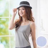 華歌爾-涼爽衣條紋系列M-LL細肩帶款(冰晶藍)LT510114-EG