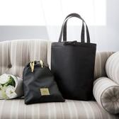 《花花創意会社》外流。Iena貴婦風緞面黑色二件包組【H6607】