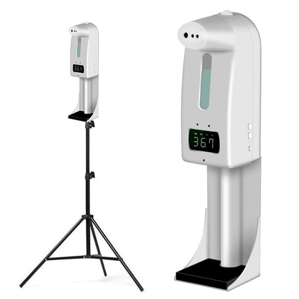 【免運+3期零利率】全新 K10 Pro 自動測溫酒精消毒洗手機 高溫警報 非醫療器材 附專用支架