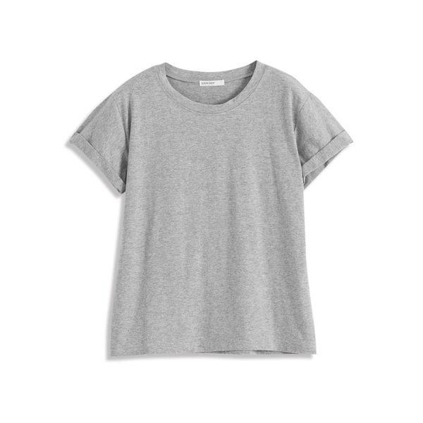 Queen Shop【01037836】百搭款袖反折多色素面棉T 十色售*現+預*