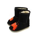 CONNIFE 童鞋 雪靴 短靴 黑色 小恐龍 Q068 no519