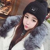 毛線帽子女冬天潮百搭秋冬季圓臉適合女士韓版時尚月子產後針織帽  免運快速出貨