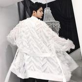 原創設計款T台走秀男女中性拉風外套潮男個性輕薄款羽毛風衣·皇者榮耀3C旗艦店