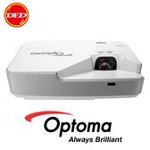 送100吋手拉布幕 OPTOMA 奧圖碼 ZW310ST 雷射短焦投影機 WXGA 3200 ANSI流明 支持3D顯示 公司貨