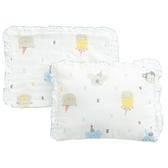 【奇哥】動物派對六層紗嬰兒枕(附枕套)