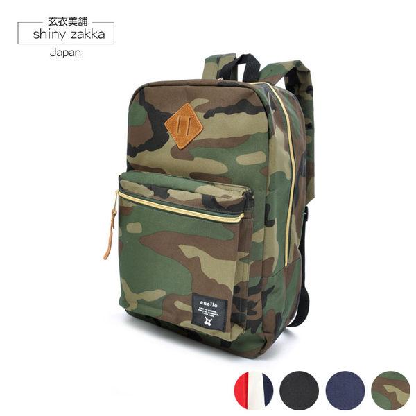 後背包-日本品牌包anello豬鼻方形背包-迷彩-玄衣美舖