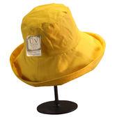 日本外單帽子女夏天防曬漁夫帽捲邊大檐太陽帽可摺疊棉麻布帽女  檸檬衣舍