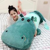 可愛河馬毛絨玩具抱抱睡覺公仔床上抱著玩偶男生款布娃娃女孩抱枕 XN1300【Rose中大尺碼】