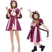 雙12好禮 萬聖節親子裝女童cos服角色扮演可愛貓服裝兒童演出聖誕節派對服